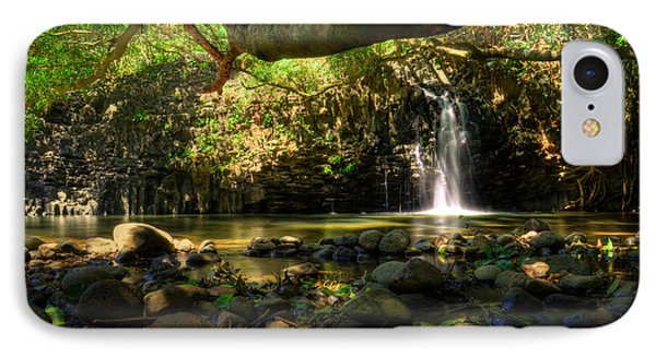 Lower Twin Falls Maui IPhone Case