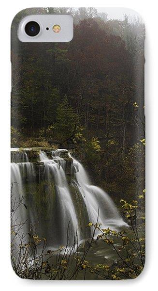 Ludlowville Falls In Autumn I IPhone Case