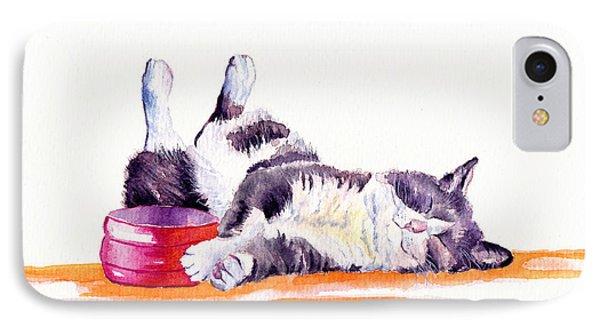 Cat iPhone 8 Case - Lunch Break by Debra Hall