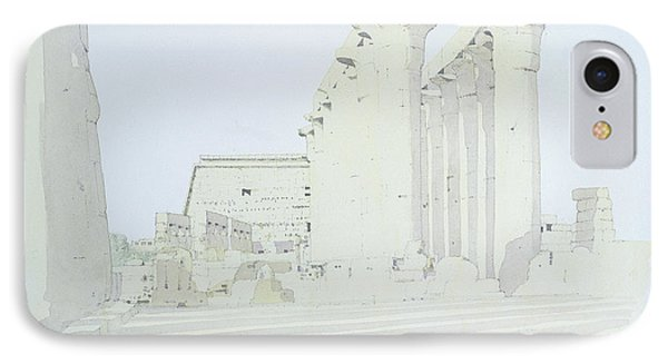 Luxor Temple Wc On Paper IPhone Case