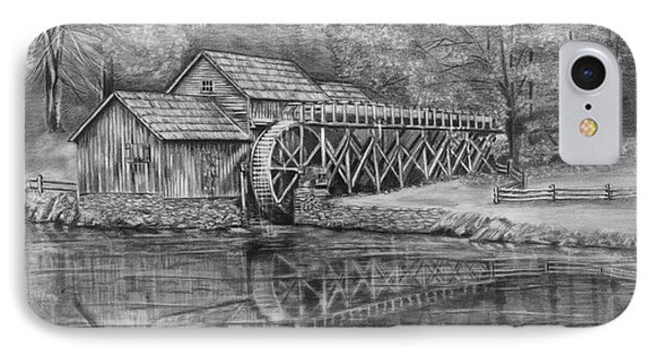 Mabry Mill Pencil Drawing IPhone Case