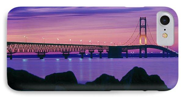 Mackinac Bridge At Dusk, Mackinac IPhone Case