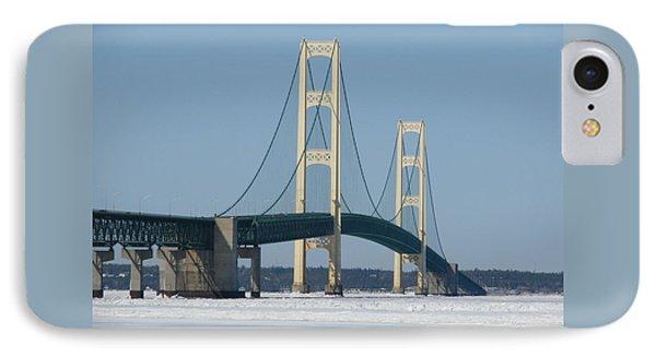 Mackinac Bridge In Winter IPhone Case