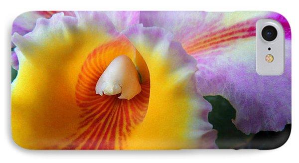 Macro Orchid IPhone Case