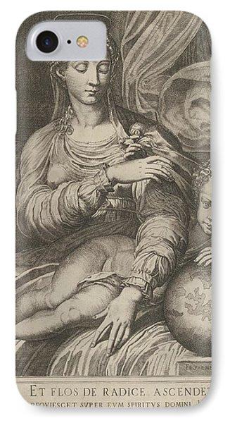 Francesco Mazzola IPhone 8 Case   Madonna Of The Rose, The Madonna By  Domenico Tibaldi