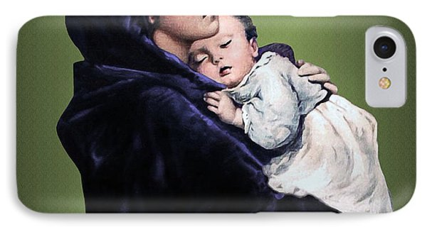 IPhone Case featuring the digital art Madonna With Child by A Samuel