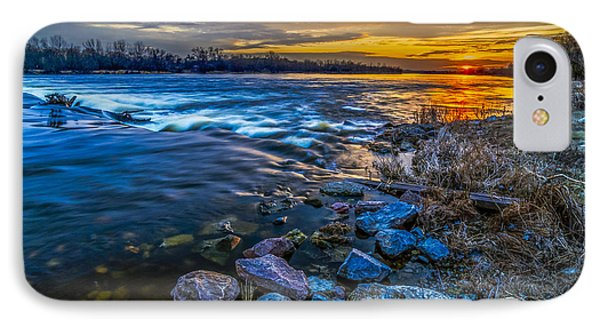 Magic Sunset Over Narew River IPhone Case
