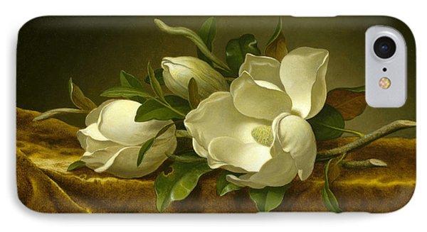Magnolias On Gold Velvet Cloth IPhone Case