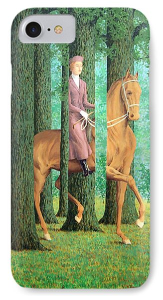 Magritte's The Blank Signature IPhone Case