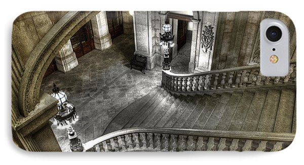 Main Staircase From Above IPhone Case