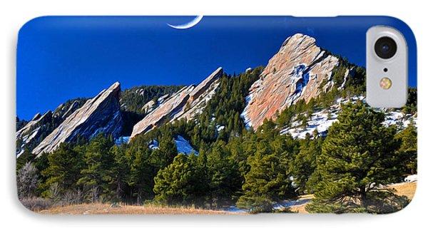 Majestic Flatirons Of Boulder Colorado IPhone Case