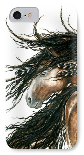 Horse iPhone 8 Case - Majestic Pinto Horse 80 by AmyLyn Bihrle