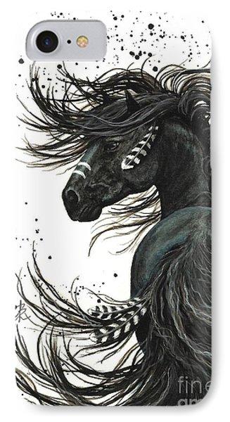 American iPhone 8 Case - Majestic Spirit Horse  by AmyLyn Bihrle