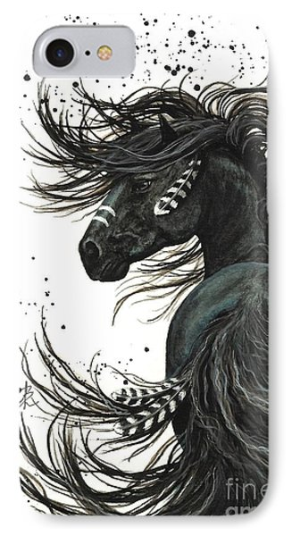 Portraits iPhone 8 Case - Majestic Spirit Horse  by AmyLyn Bihrle
