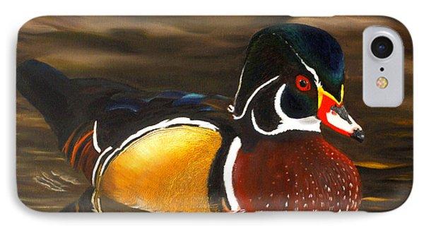 Male Wood Duck Portrait IPhone Case