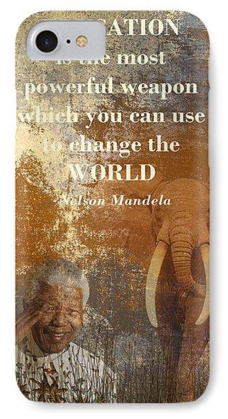 Tribute iPhone 8 Case - Mandela by Sharon Lisa Clarke