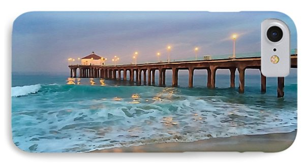 Manhattan Beach Reflections IPhone Case