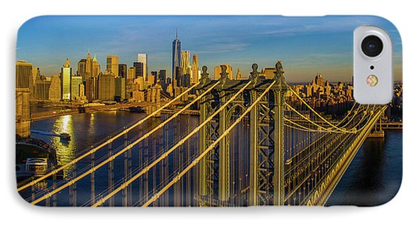 Manhattan Bridge At Sunrise, New York IPhone Case