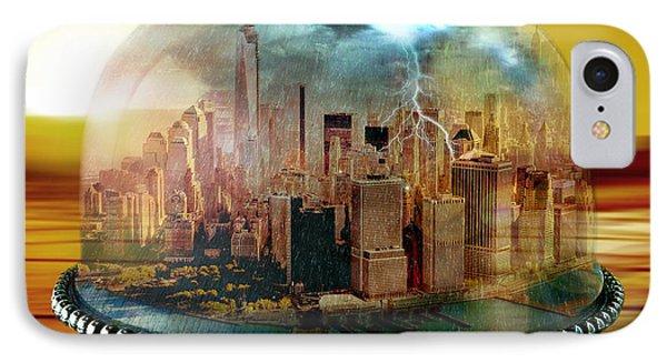Mustard iPhone 8 Case - Manhattan Under The Dome by Marian Voicu