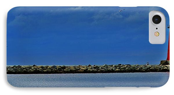 Manistique Lighthouse IPhone Case