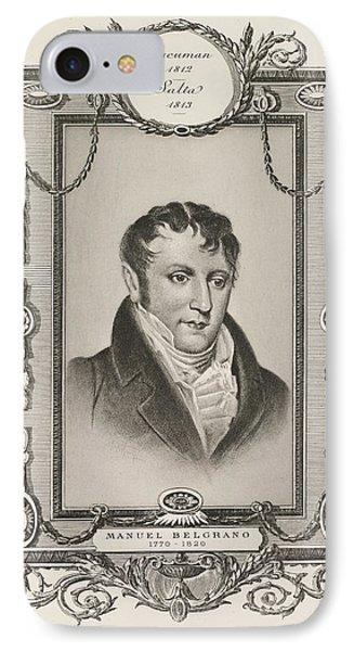 Manuel Belgrano IPhone Case