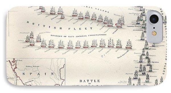 Map Of The Battle Of Trafalgar IPhone Case