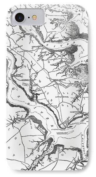 Map Yorktown, 1862 IPhone Case