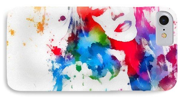 Mariah Carey Watercolor Paint Splatter IPhone Case