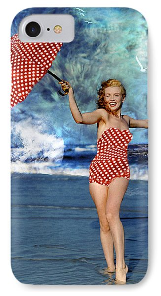Marilyn Monroe - On The Beach IPhone Case