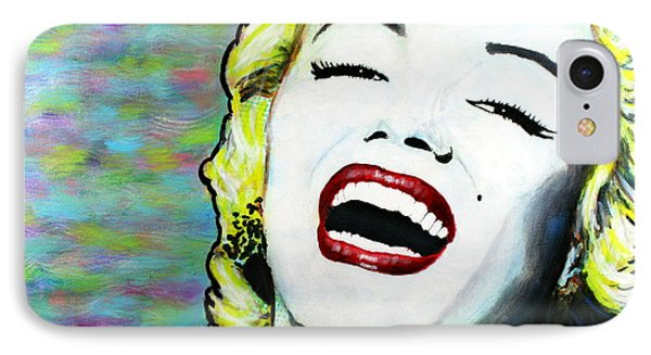 Marilyn Monroe Portrait Bright Laugh IPhone Case