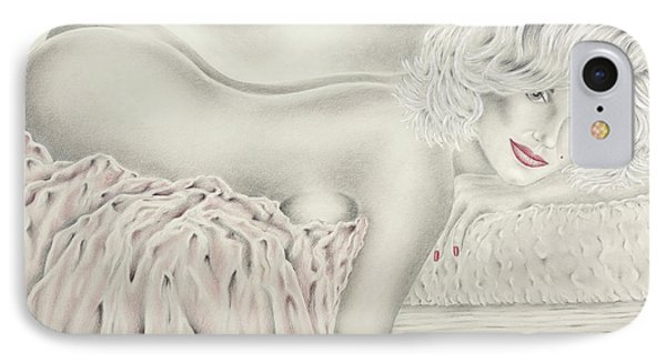Marilyn Monroe Reclining Nude IPhone Case