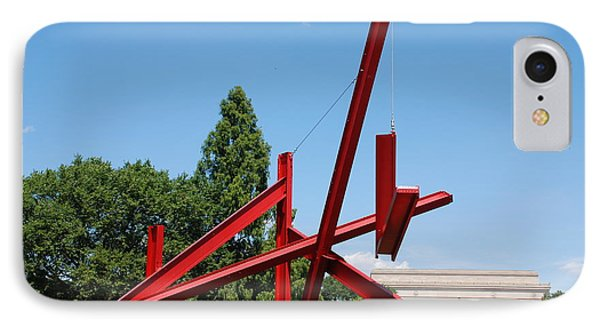Mark Di Suvero Steel Beam Sculpture IPhone Case