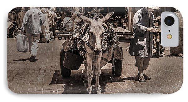Marrakech Sounk Donkey Cart IPhone Case