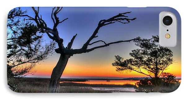 Marsh Tree Sunrise IPhone Case