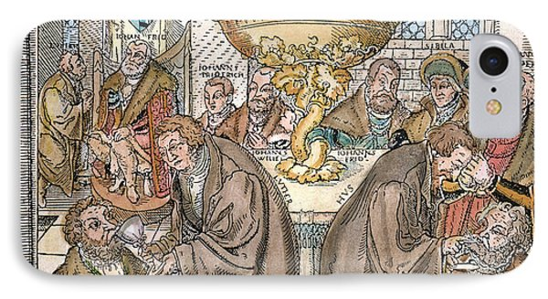 Martin Luther & Jan Hus Giving IPhone Case