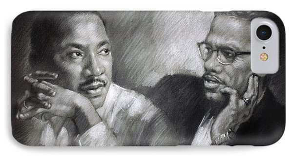 Martin Luther King Jr And Malcolm X IPhone Case
