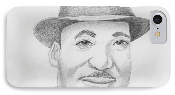 Martin Luther King Sketch IPhone Case