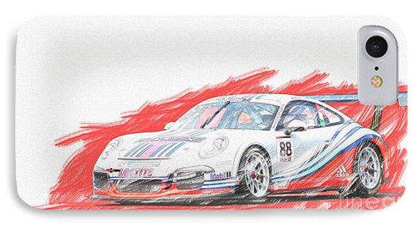 Martini Porsche 911 Gt3 IPhone Case