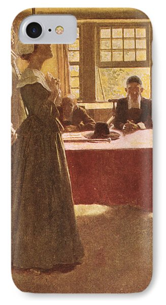Mary Dyer Brought Before Governor Endicott, Illustration From The Hanging Of Mary Dyer By Basil IPhone Case