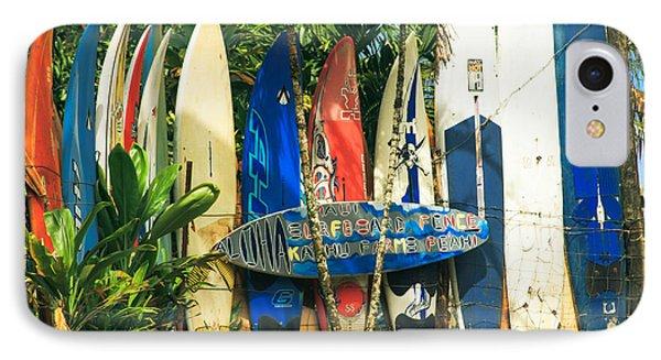 Maui Surfboard Fence - Peahi Hawaii IPhone Case