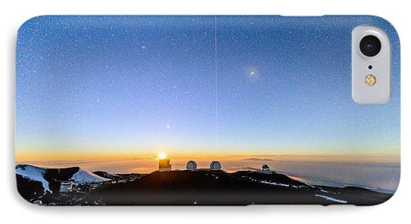 Mauna Kea Moonset 1 IPhone Case