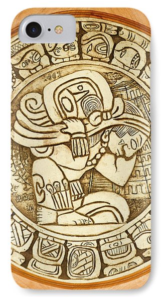 Belize iPhone 8 Case - Mayan Woodcarving, Belize by William Sutton