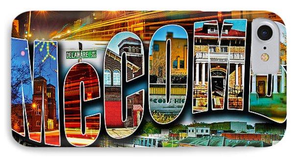 Mccomb Mississippi Postcard IPhone Case