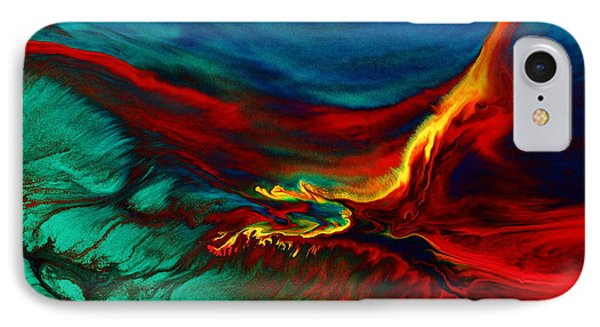 Meaningful Art-flying Above Modern Abstract Colorful Art By Kredart  IPhone Case