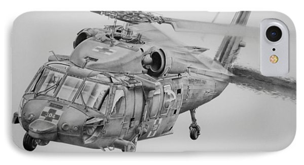 Helicopter iPhone 8 Case - Medevac by James Baldwin Aviation Art