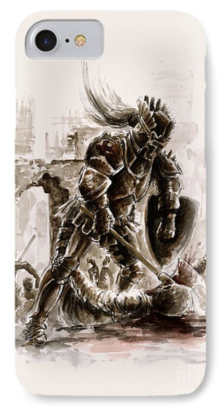 Dungeon iPhone 8 Case - Medieval Knight by Mariusz Szmerdt