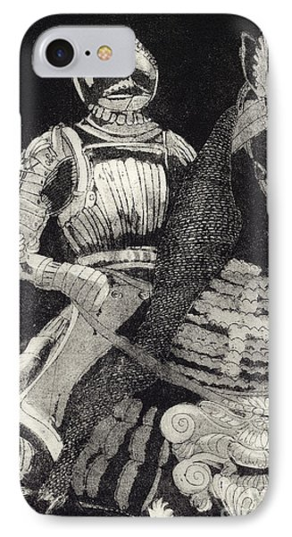 Medieval Knight On Horseback - Chevalier - Caballero - Cavaleiro - Fidalgo - Riddare -ridder -ritter IPhone Case