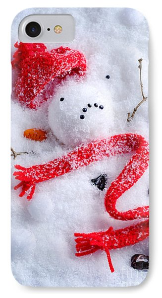 Knit Hat iPhone 8 Case - Melted Snowman by Amanda Elwell