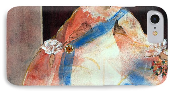 Menina With Sash And Flower Oil & Acrylic On Canvas IPhone Case