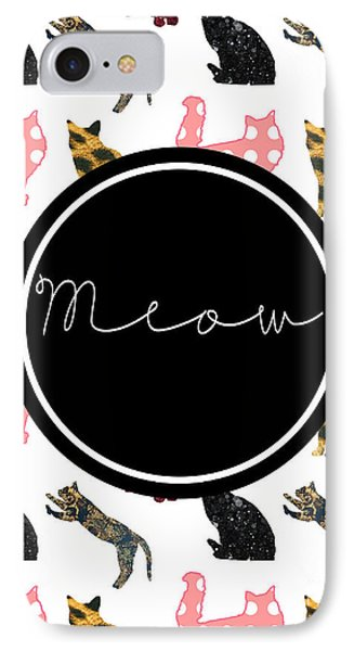 Cat iPhone 8 Case - Meow by Pati Photography